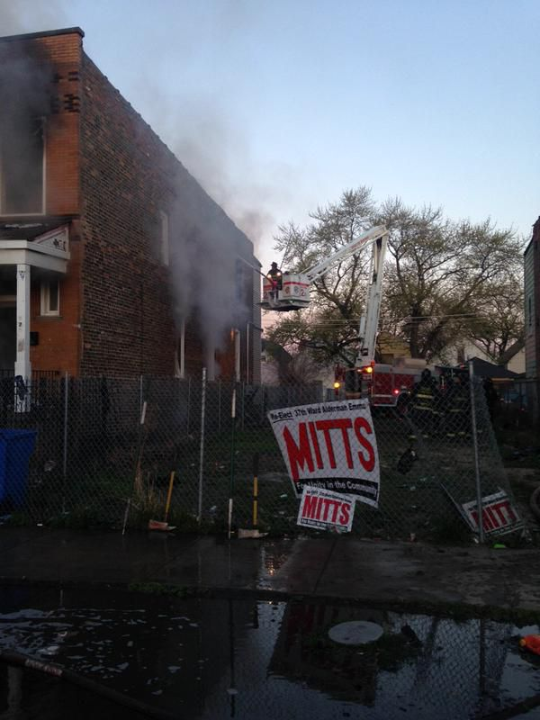 No one was hurt in a blaze early Friday in Humboldt Park neighborhood.   Fire Media Affairs