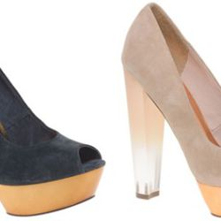 """There's a lot going on with these ASOS pumps (we prefer the beige to the blue), but they're definitely fun, flirty and just the right amount of sassy. Available at <a href=""""http://us.asos.com/Asos/Asos-Prism-Platform-Peep-Toe-Shoe/Prod/pgeproduct.aspx?iid"""