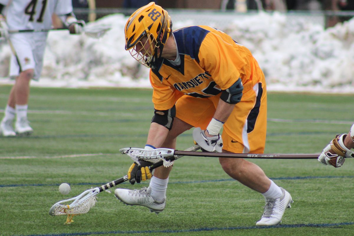 Jacob Richard leads Marquette in ground balls this season with 32 thus far.