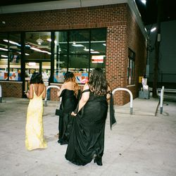 """""""This was after prom, right before the 'Part Two' of the event. We decided to stop at the gas station before going to our hotel room to continue the celebration."""""""