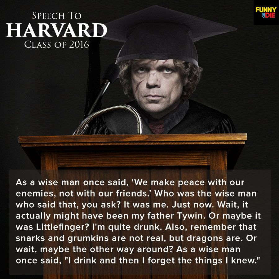 game of thrones commencement speech quotes funny or die