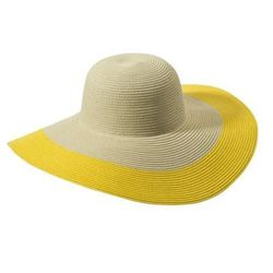 """<a href=""""http://www.target.com/p/Mossimo-Supply-Co-Yellow-Colorblock-Floppy-Hat/-/A-13895731#?lnk=sc_qi_detailimage"""">Mossimo Supply color block hat</a>, $14.99, target.com"""