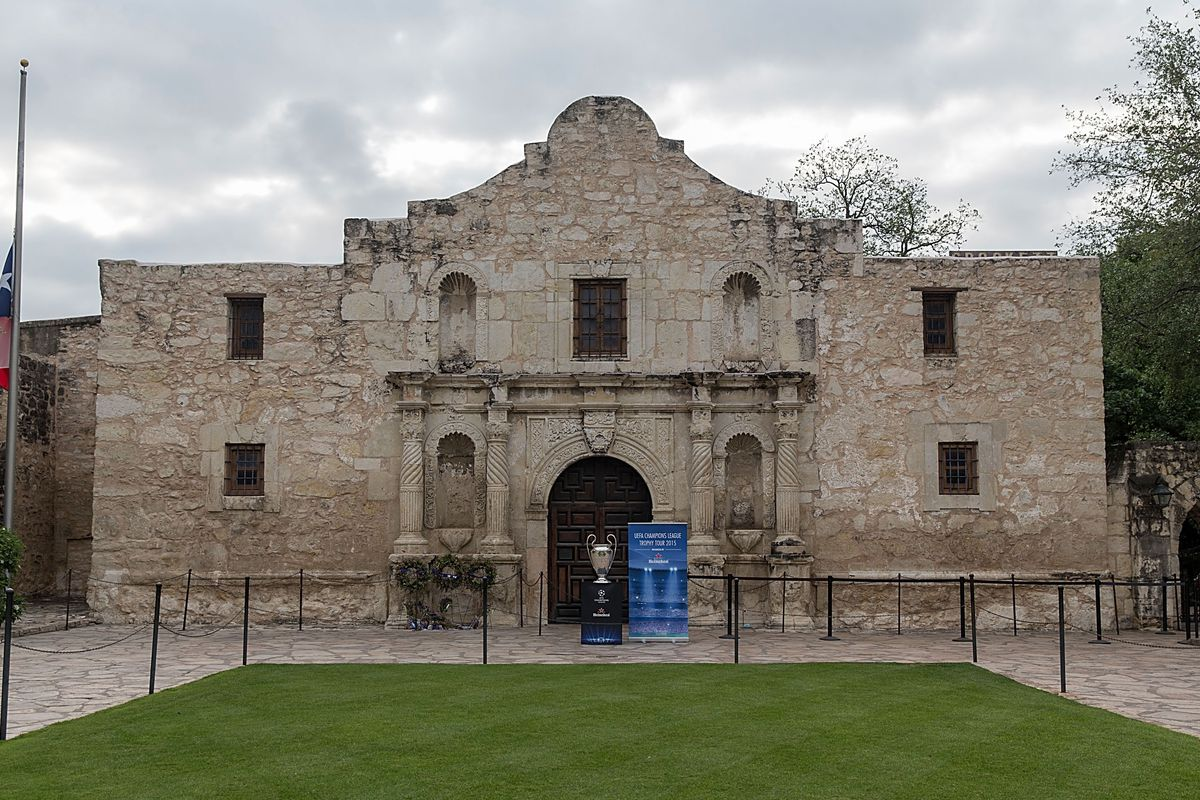 The UEFA Champions League Trophy Tour presented by Heineken at the Alamo on April 15, 2015, in San Antonio, Texas. (Photo by Rick Kern/Getty Images for Heineken)
