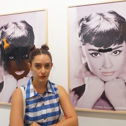 """""""We've been following NY-based artist Lizzy Bugatos, who is also a member of the band <b>Gang Gang Dance</b>, and were very excited to see her new work shown. One of the pieces we snapped consisted of two vandalized images of Audrey Hepburn. Fans of the H"""