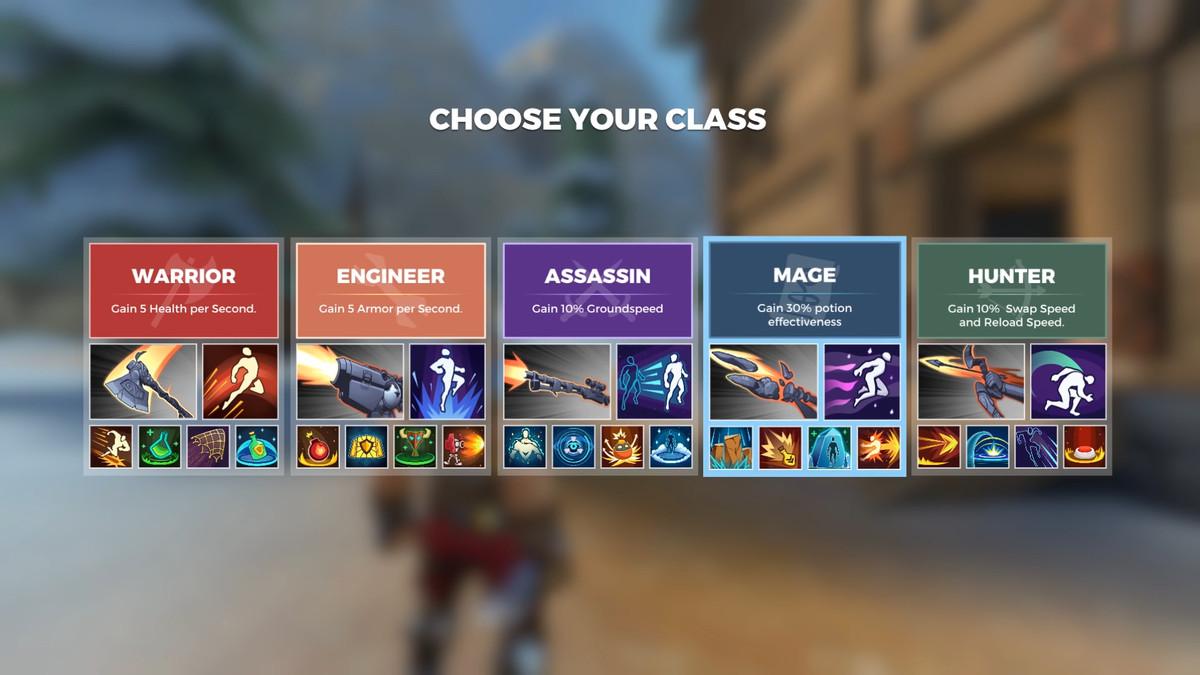 Las cinco clases de Realm Royale