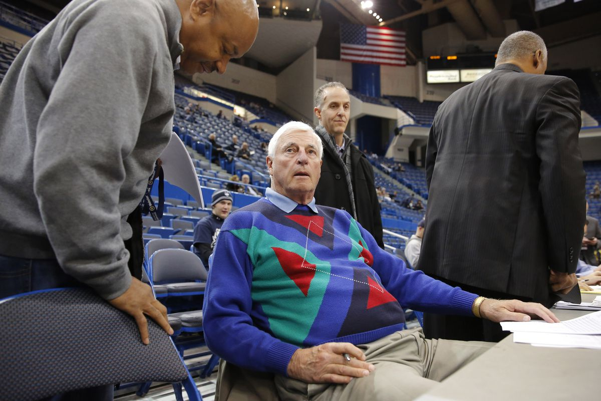 Wearing a Bill Cosby sweater doesn't help him appear more friendly