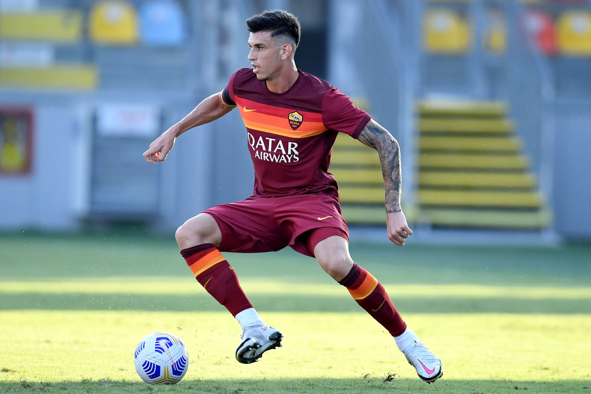 Roger Ibanez of AS Roma during the friendly football match...