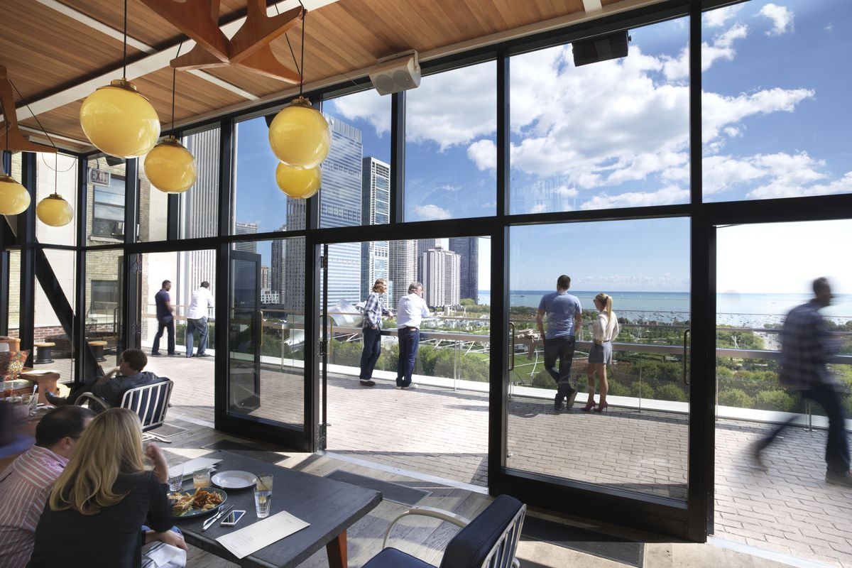 Cindy s rooftop adding outdoor terrace bar with boozy for Terrace bar menu