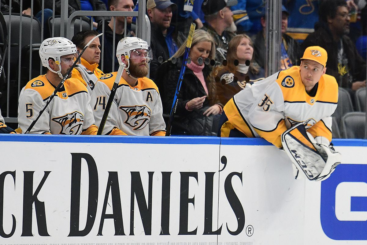NHL: FEB 15 Predators at Blues