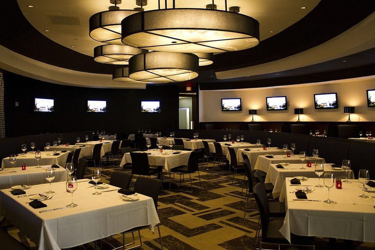 The dining room at Center Cut Steakhouse.