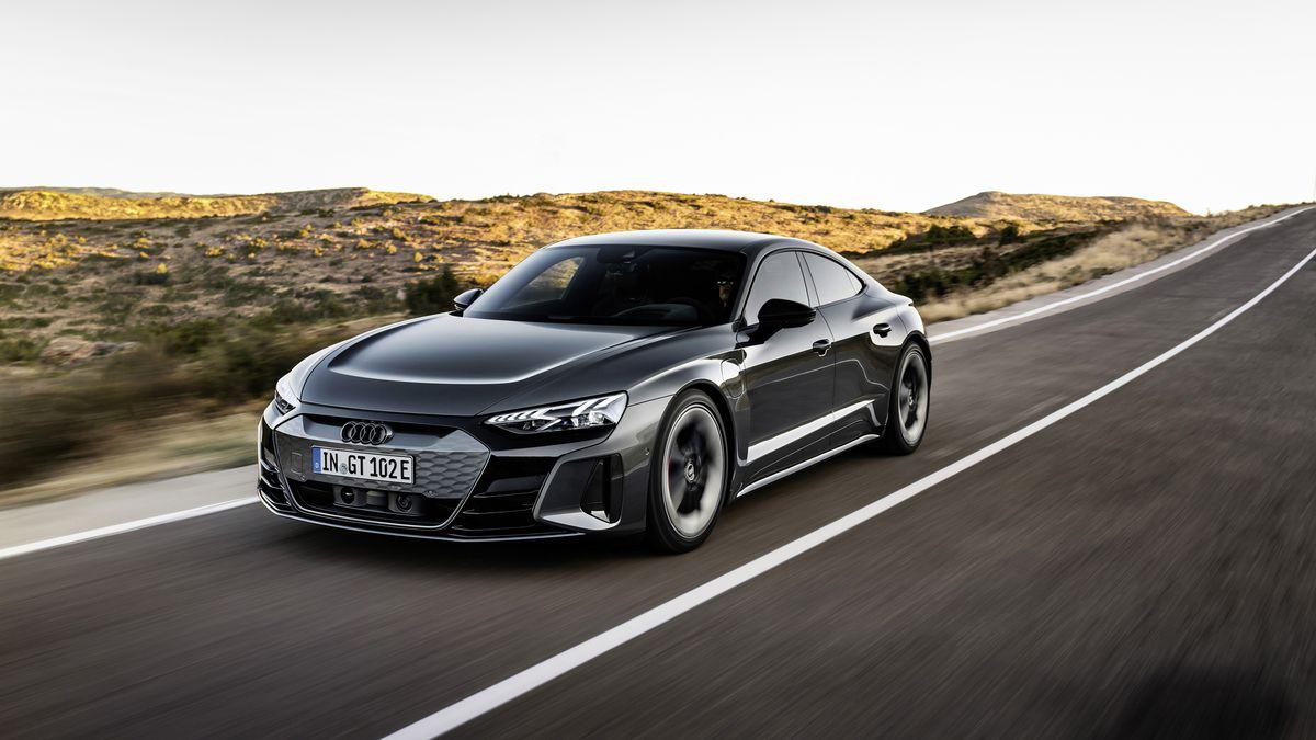 Audi Reveals Its Porsche Powered E Tron Gt The Verge