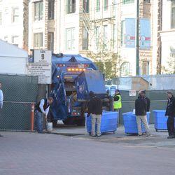 4:47 p.m. New setup for trash pickup on Sheffield -