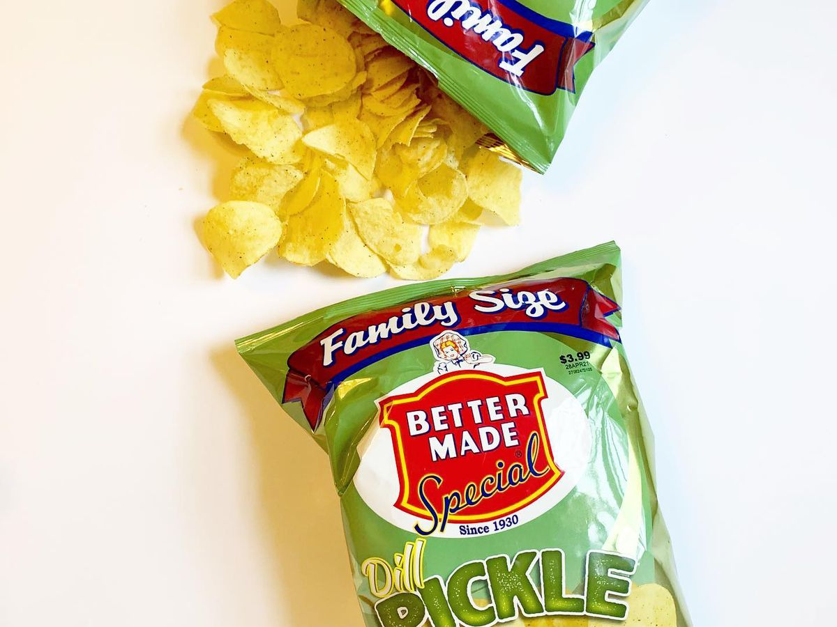 Better Made dill pickle potato chips