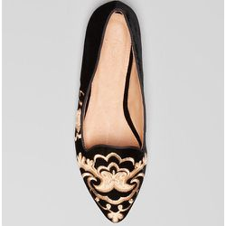 """<b>Joie</b> Pointed Toe Smoking Flats, <a href=""""http://www1.bloomingdales.com/shop/product/joie-pointed-toe-smoking-flats-sabina?ID=777521&CategoryID=16963&LinkType=#fn%3Dspp%3D81"""">$235</a>"""