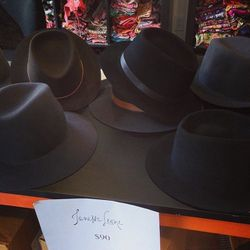 Janessa Leone's cool-girl hats were also going fast.