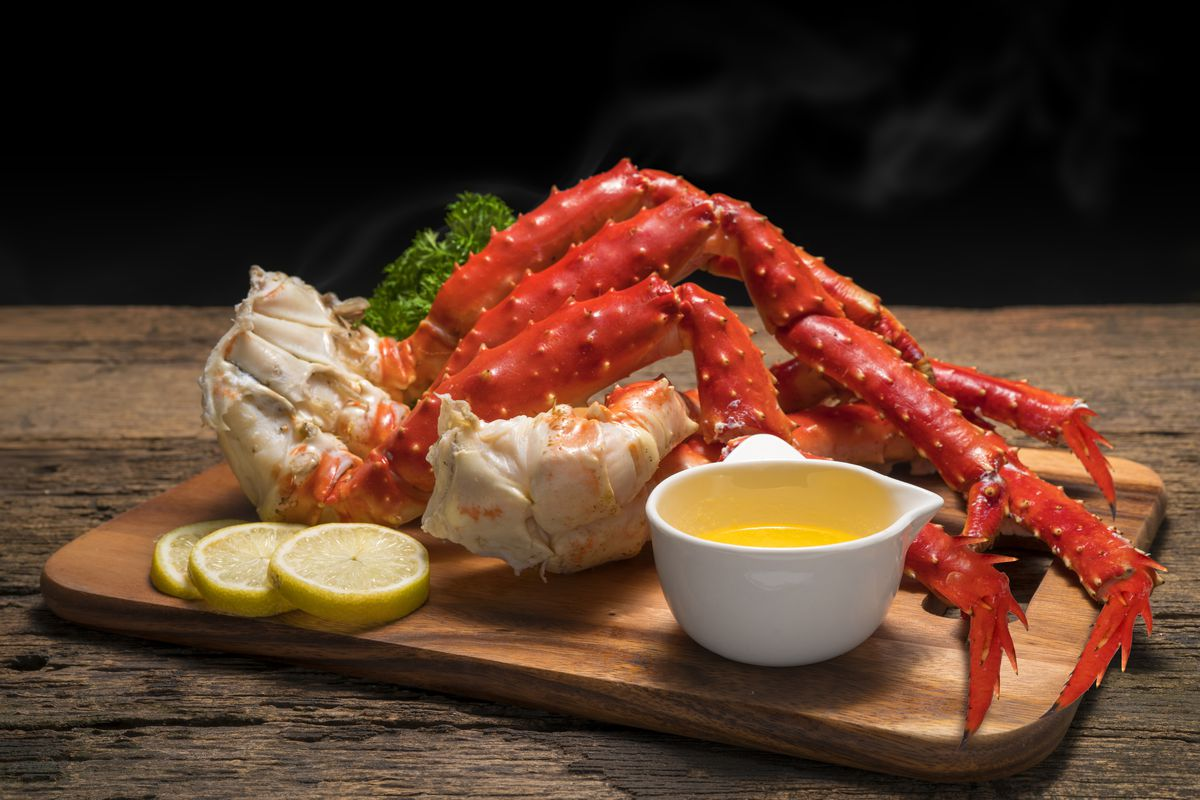 Crabs legs and butter sauce, on the menu this July at the new Crab Island restaurant in Spring Valley.