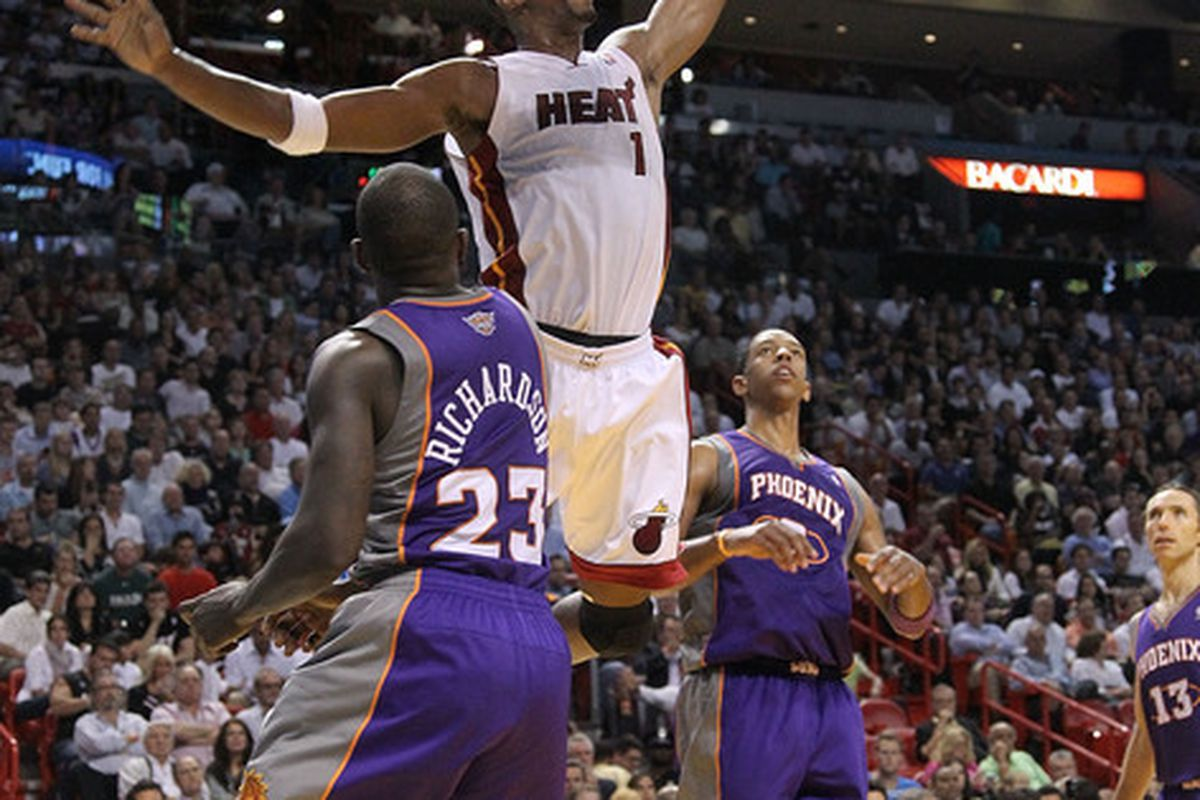 Chris Bosh took advantage of a Suns team that was very weak inside the painted area.