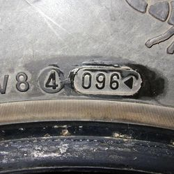 """Tires purchased on KSL.com classifieds with a manufacture date of 1996. They were listed as """"nearly new."""""""