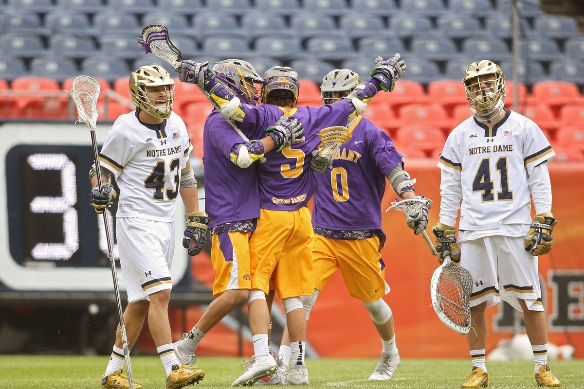 NCAA Lacrosse: Quarterfinals - Notre Dame Fighting Irish vs. Albany Great Danes