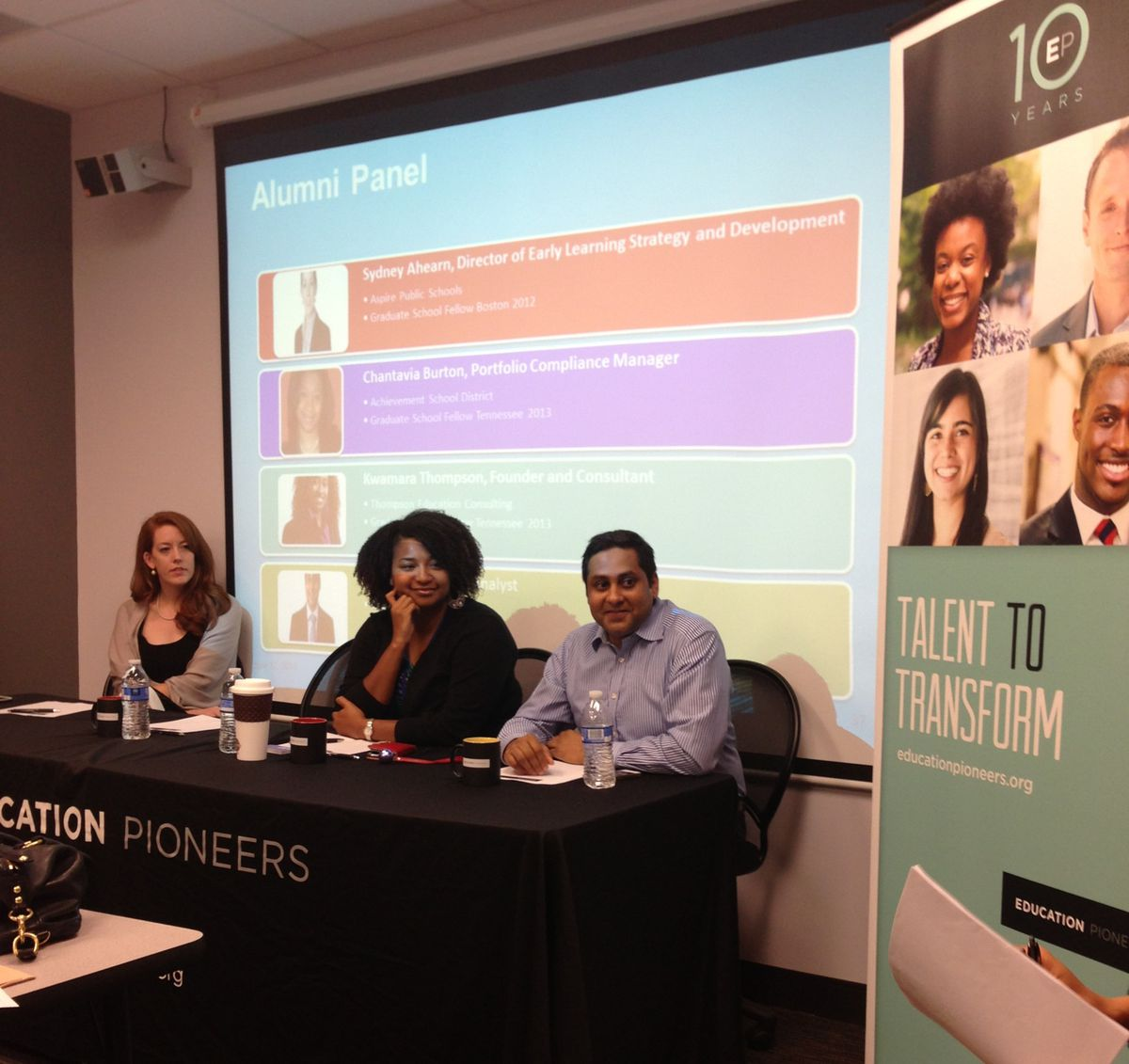 A panel at an Education Pioneers event discussing education in Memphis.