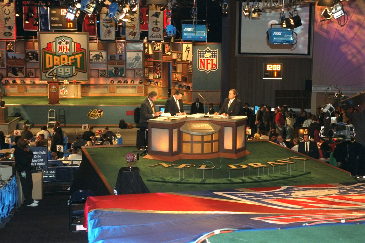 The NFL Draft is underway in the theater at Madison Square G