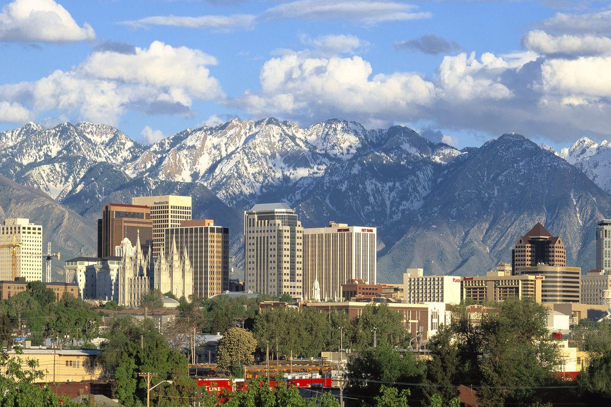 Salt Lake City Utah Skyline Panoram