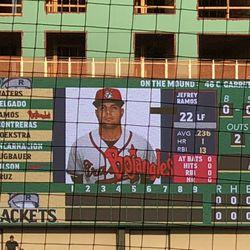 "Calling Garrett Cave ""C. Garrett on the Scoreboard? Come on… -5"