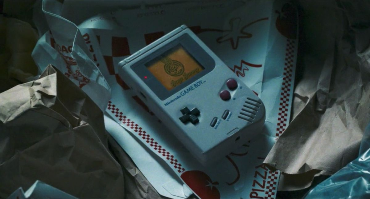 A Game Boy in the trash from Space Jam: A New Legacy