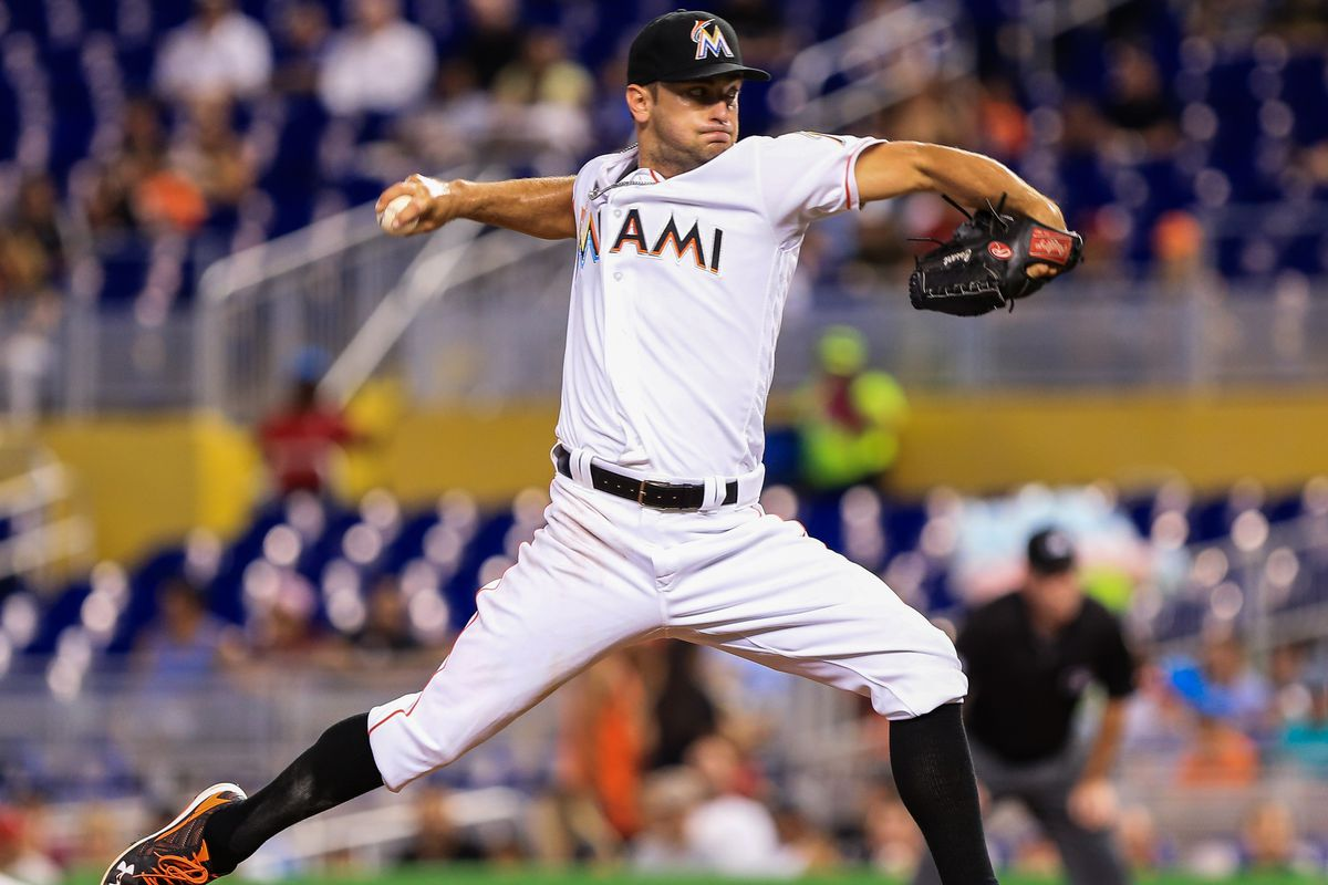 Starter Jarred Cosart pitched five scoreless innings in his first start since being called up from the minors.