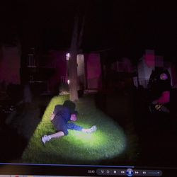 Video from a body camera showing the arrest Guy Gailey is seen during a press conference in attorney Bob Sykes' office in Salt Lake City on Thursday, June 29, 2017. Gailey has filed a lawsuit against Ogden police officer Rylee Marble claiming Marble used excessive force by slamming his knee into Gailey's back while arresting him for investigation of fleeing from police — after Gailey had already surrendered.