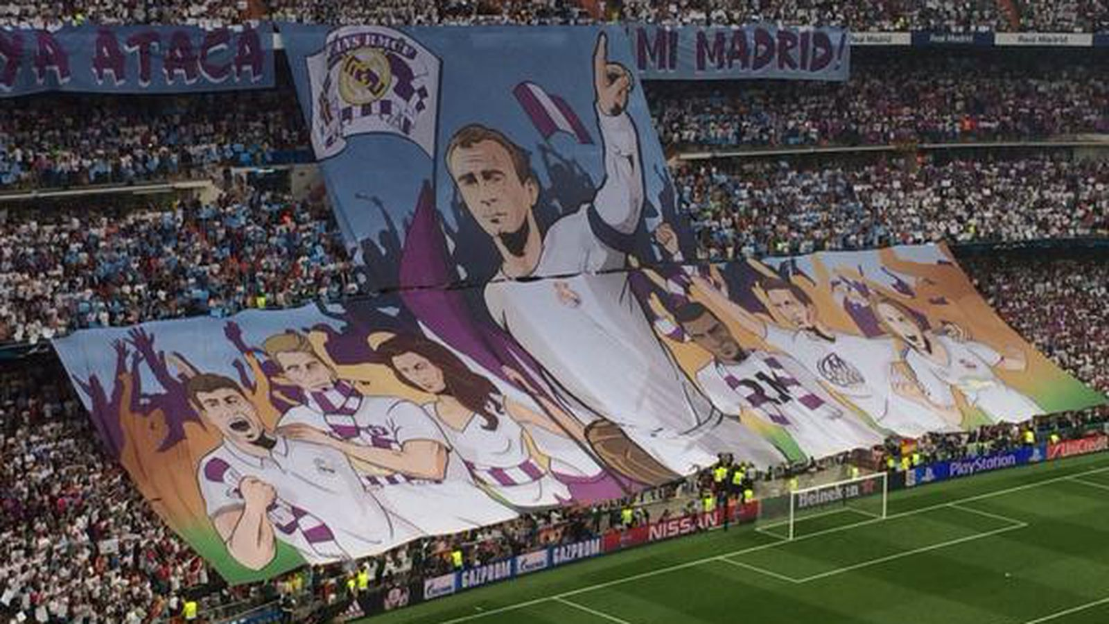 Real Madrid brought their A+ tifo game for Juventus