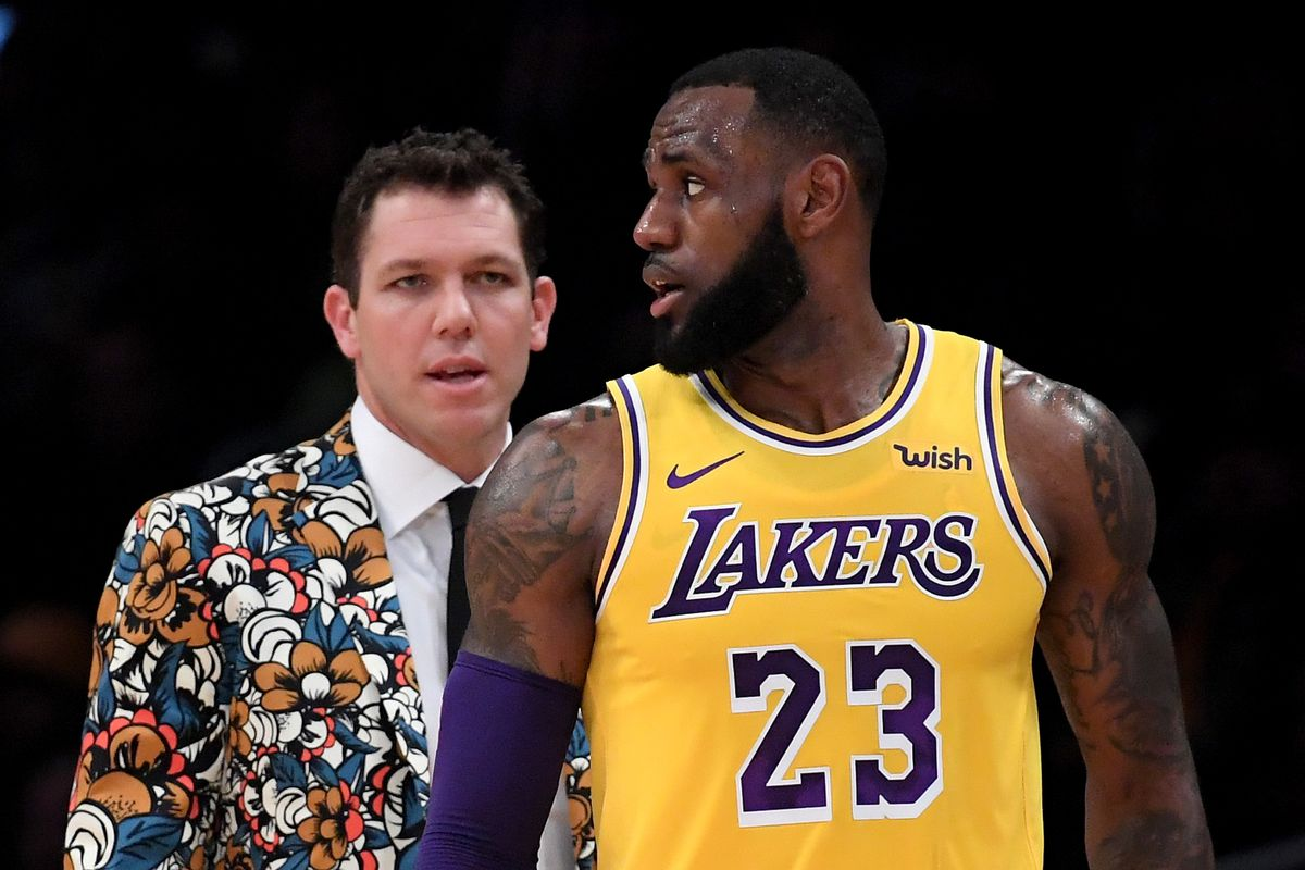 49f9564846a Magic Johnson denies report that LeBron James is ignoring Luke Walton's  play calls. New ...