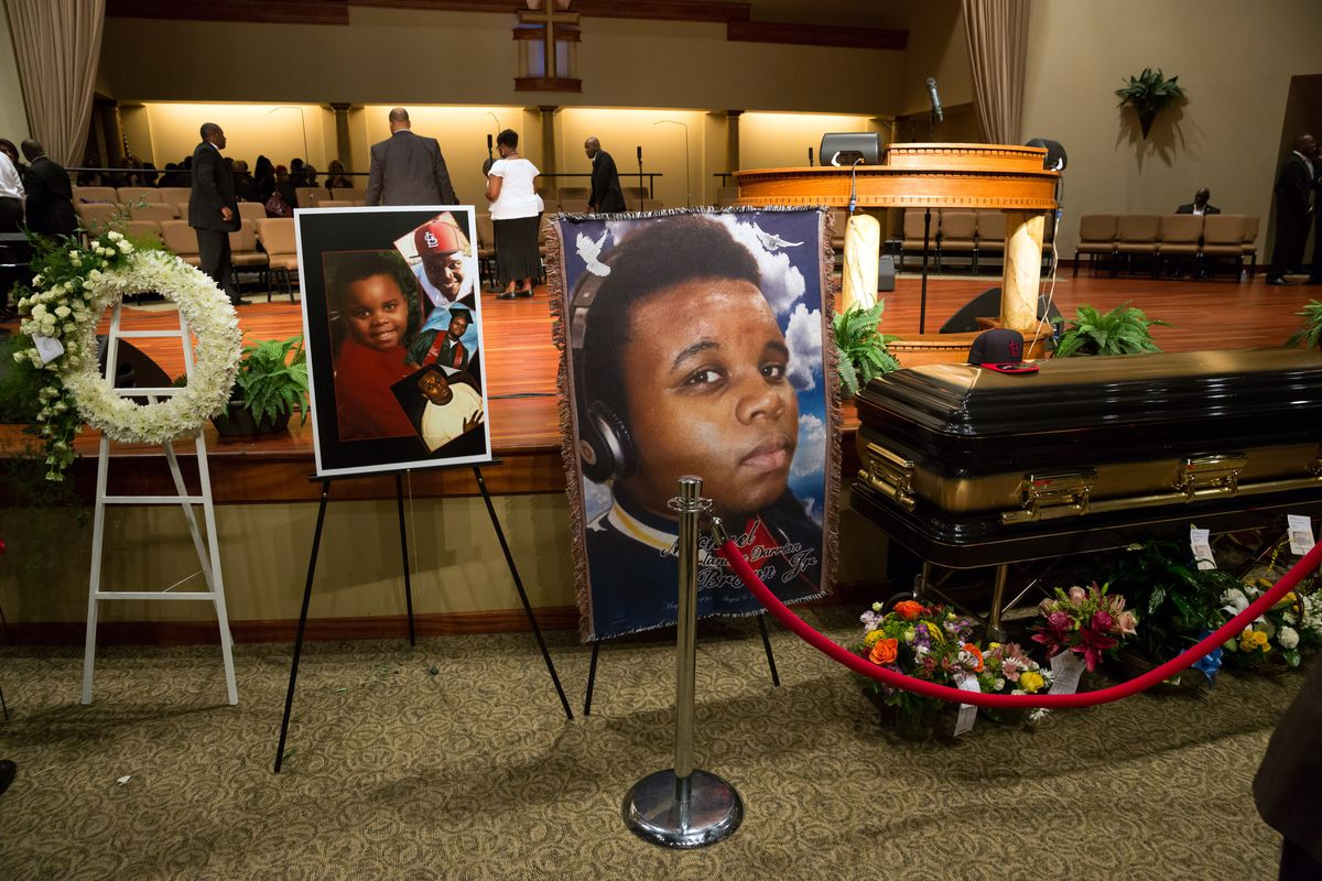 Pictures of Michael Brown at his funeral.