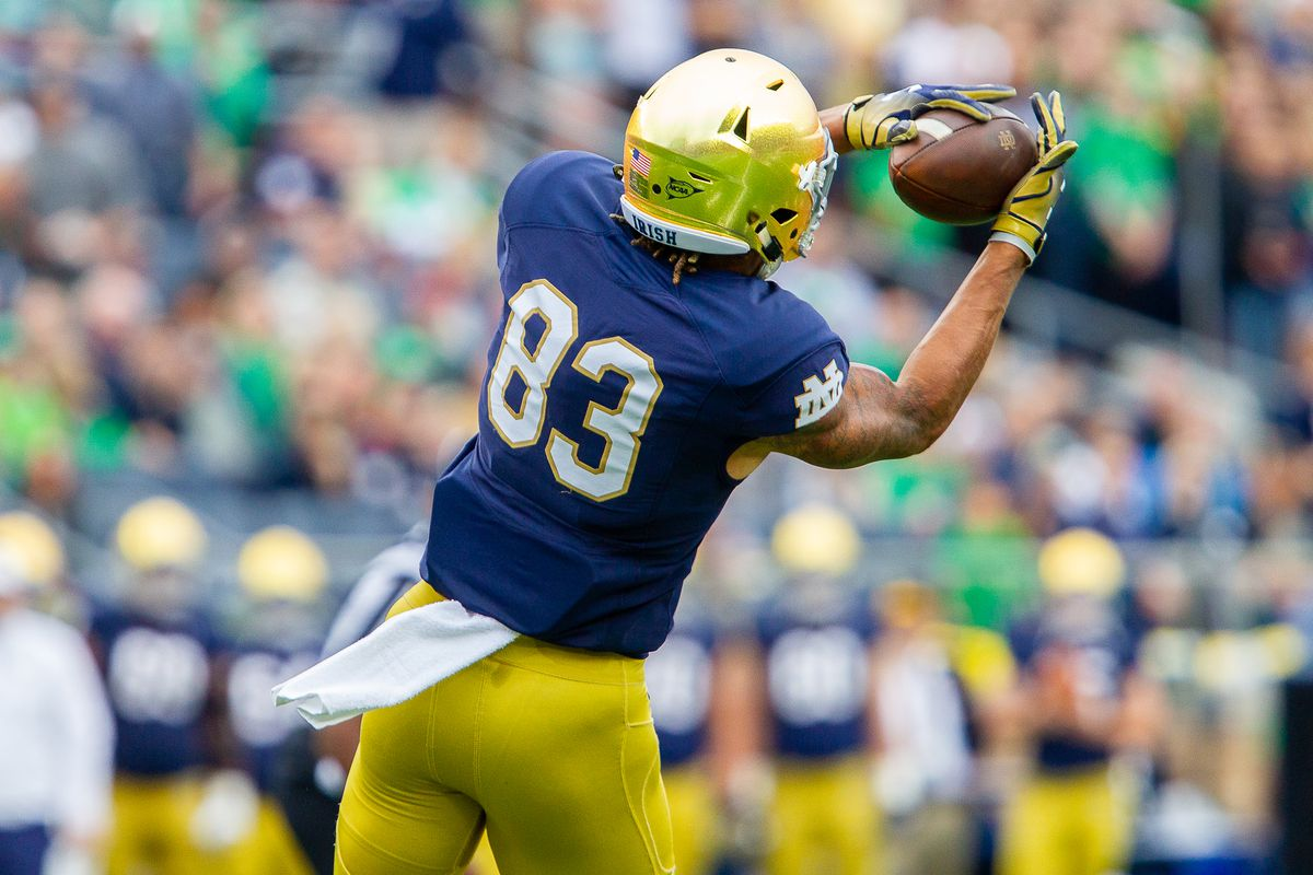 chase claypool notre dame football