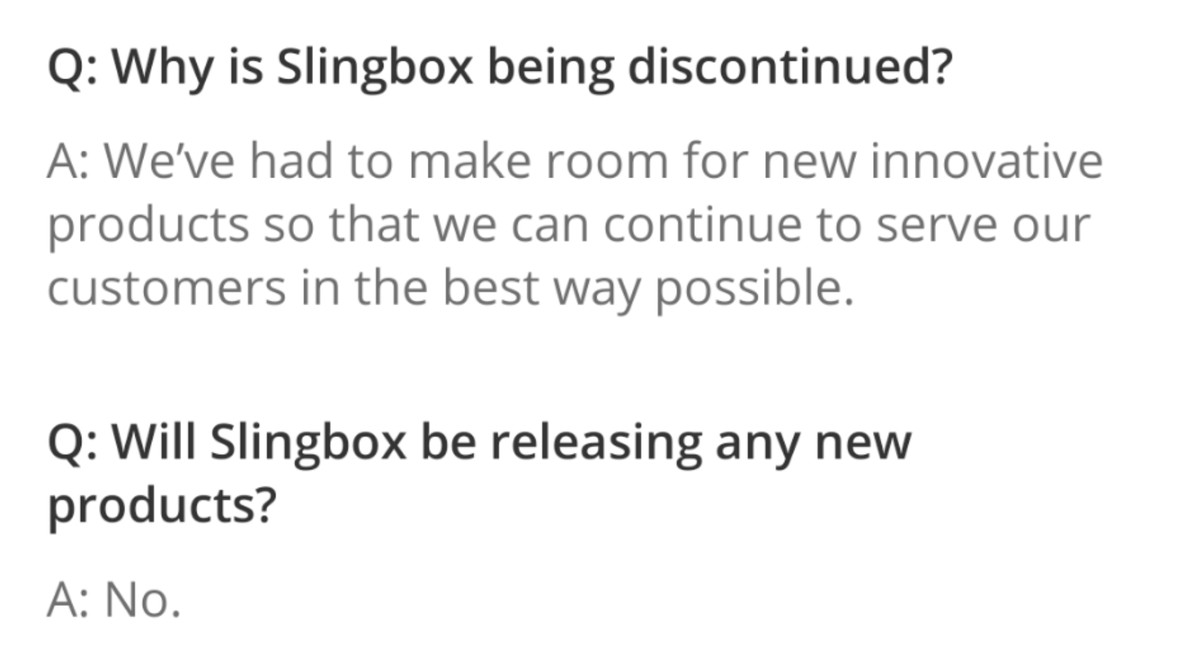 Every last Slingbox will become a brick in two years