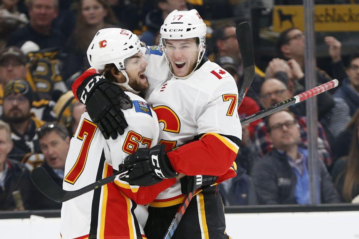 NHL: Calgary Flames at Boston Bruins