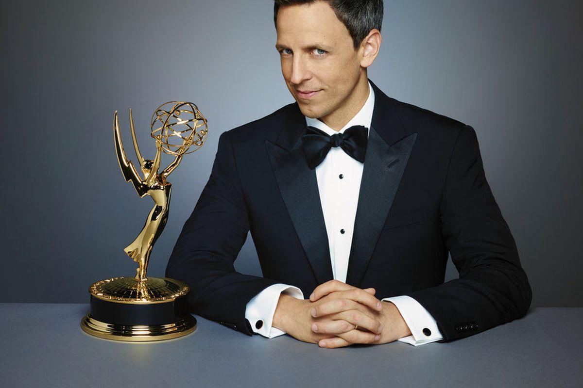 Seth Meyers is hosting tonight's Emmy Awards.