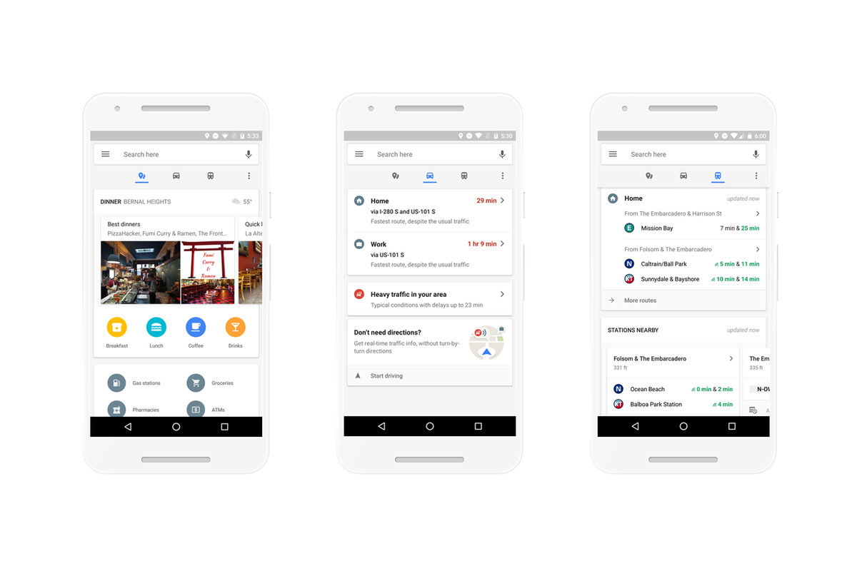 Google Maps on Android gets a new design with quick access to ...