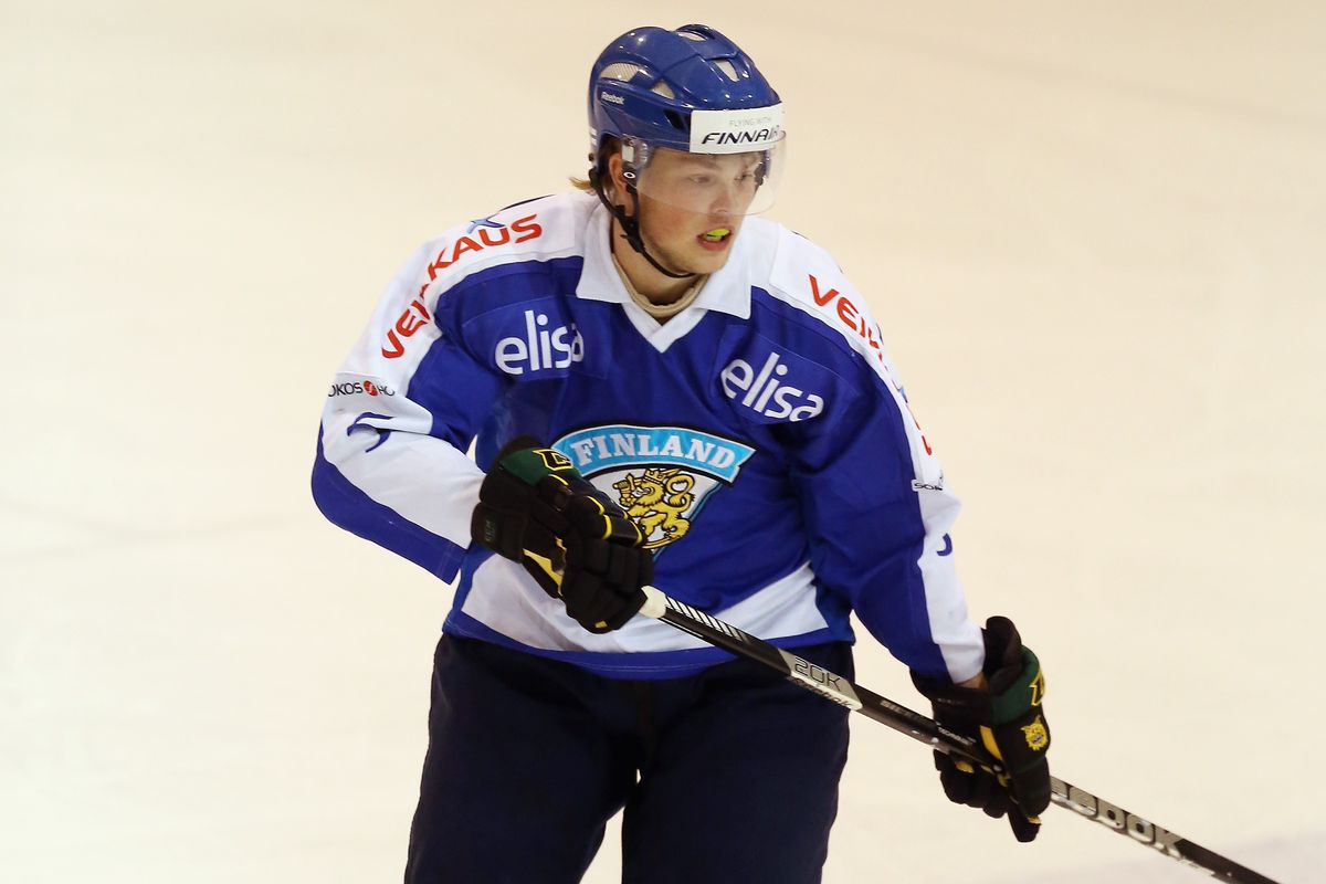 Aleksi Makela playing for Finland at Lake Placid