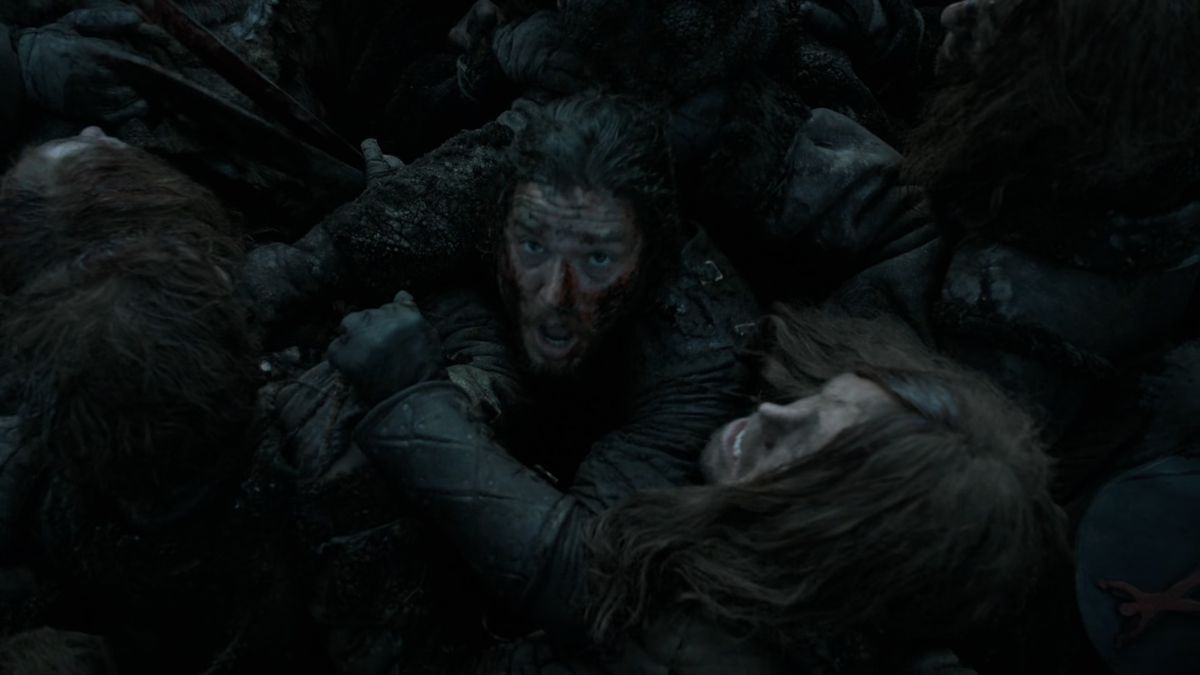 Game of Thrones Battle of the Bastards Jon buried in bodies