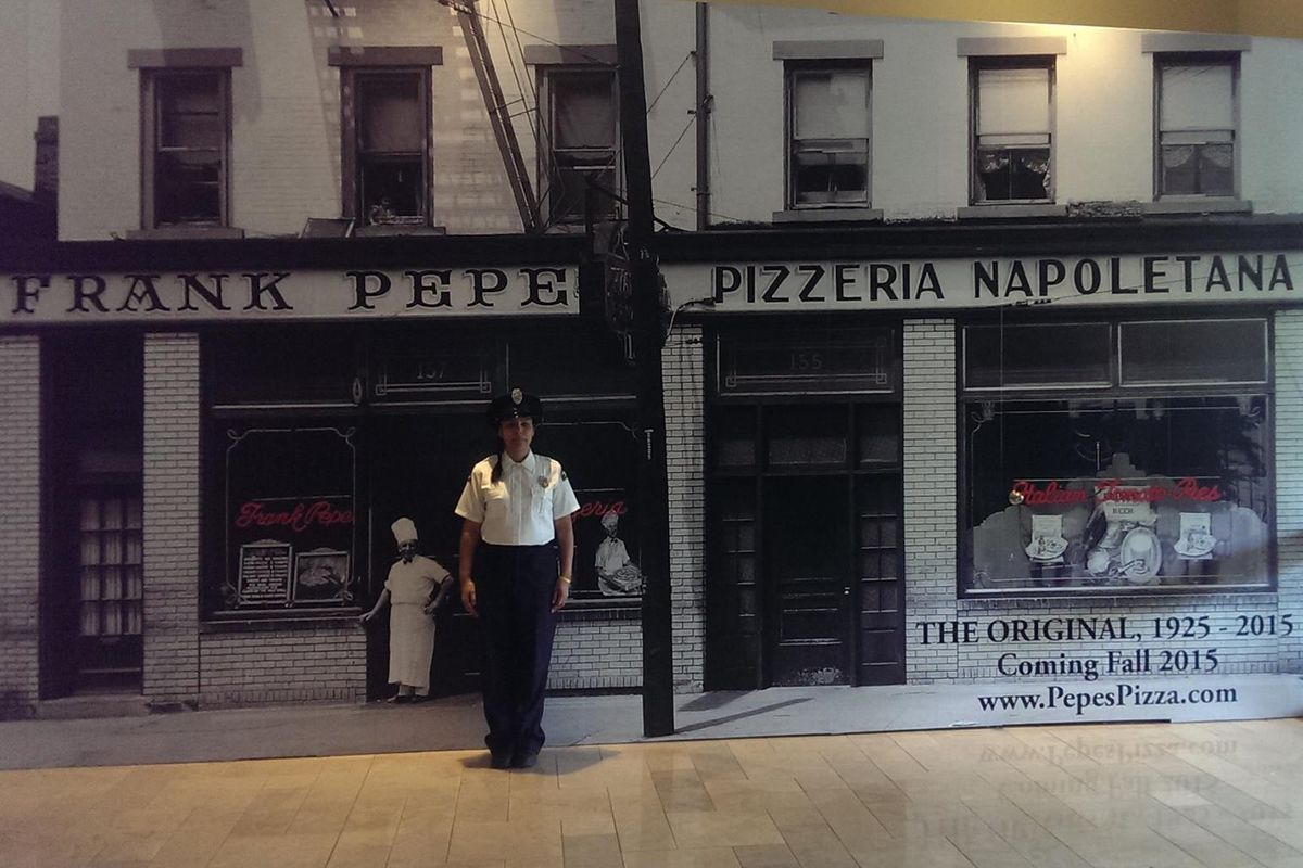 The future home of Frank Pepe Pizzeria in Chestnut Hill.