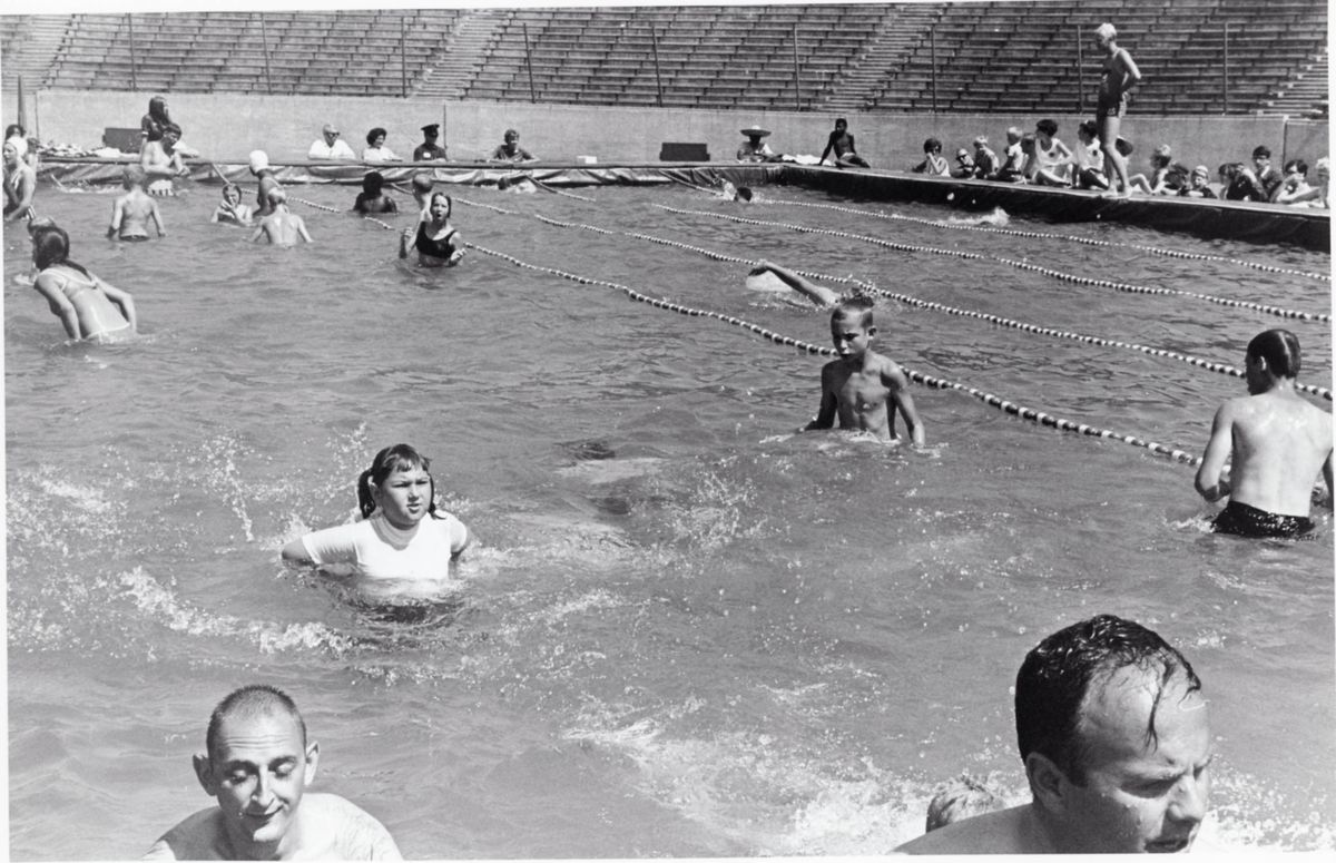 Scenes from the 1968 games.   Special Olympics file photos