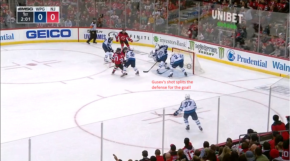 Part 13: Gusev scores his first and the first of the Devils season!