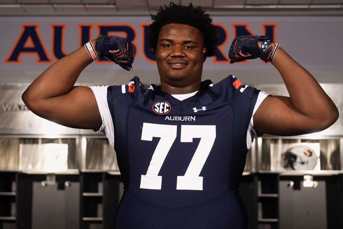 Boom! Auburn Lands 3-Star Offensive Lineman Jeremiah Wright