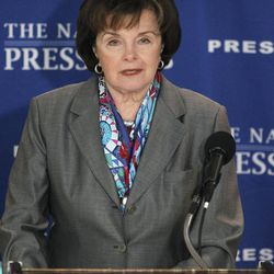 FILE - In this July 19, 2011 file photo, Sen. Dianne Feinstein, D-Calif., speaks during a news conference at the National Press Club in Washington. A draft opinion that the Federal Election Commission issued Friday, April 6, 2012 indicates that it probably will reject a request from Democratic Sen. Dianne Feinstein's re-election campaign to allow her to replace millions of dollars in contributions embezzled by her treasurer with new donations from the original donors.