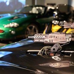 Aston Martin V12 Vanquish with hood-mounted machine guns