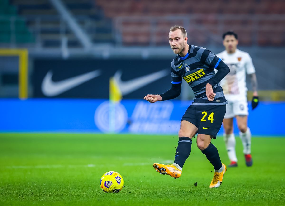 Christian Eriksen of FC Internazionale in action during the...