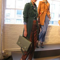 We're seeing some Rachel Comey in the printed pants in front.