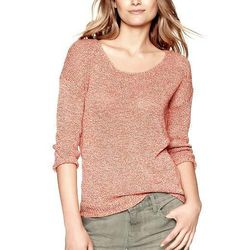 """<b>Gap</b> Marled Scoop-Neck Sweater, <a href=""""http://www.gap.com/browse/product.do?cid=8998&vid=1&pid=140183"""">$49.95</a>"""