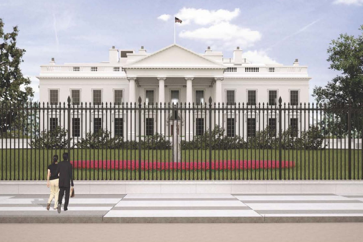 Perimeter Fence Design White house fence final design approved curbed dc all images the national capital planning commission workwithnaturefo